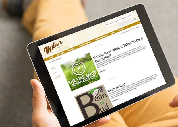 Wilbur's mobile website