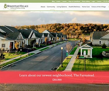 Homestead Village Homepage