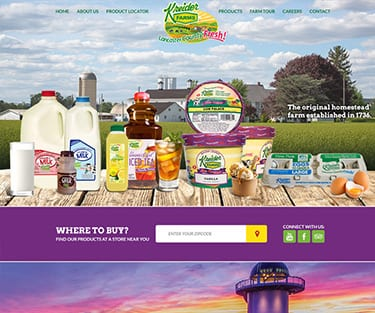 Kreider Farms website