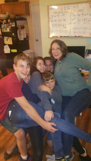 Karri with her children