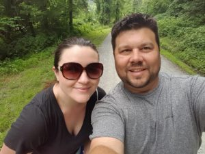 Kevin and Amber on a trail