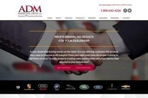 ADM Marketing website