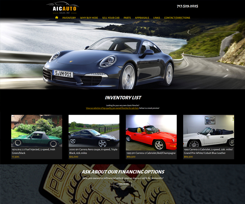AIC Auto website