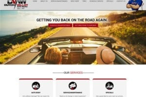 Dutch Valley Auto Works website