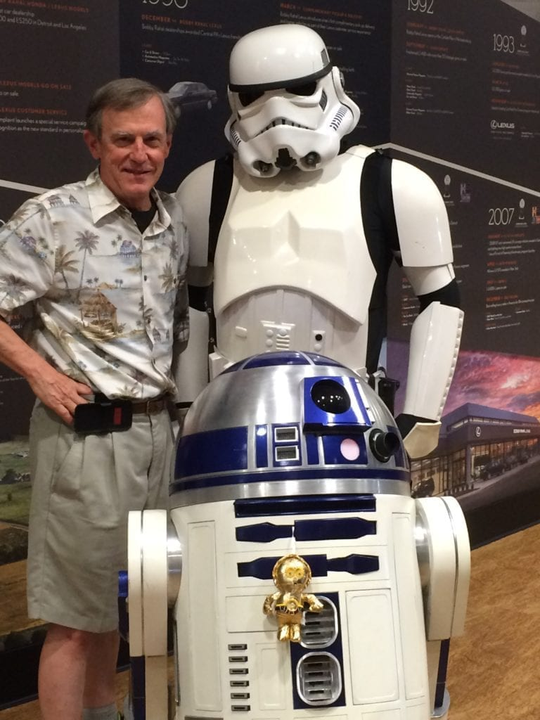 Bill Hager with starwars characters