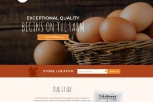 Sauder's Eggs website