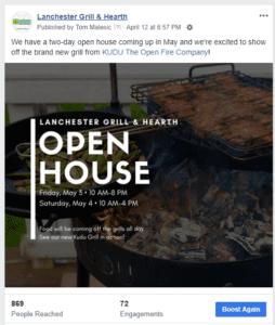 open house facebook post