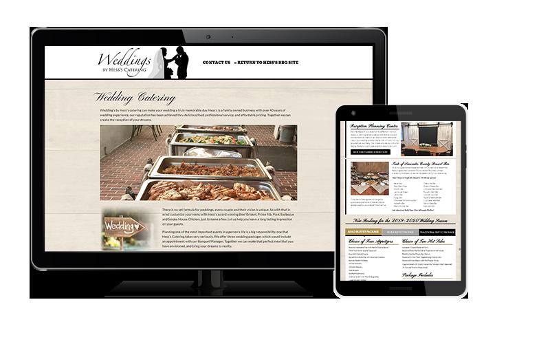 weddings by hess site on screens