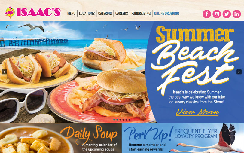 Example of Isaac's Deli