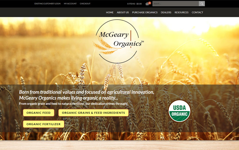 Example of McGeary Organics