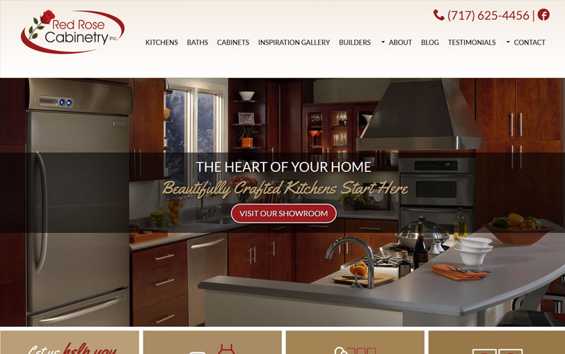 Red Rose Cabinetry website