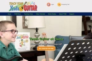 Teach Your Kids Guitar website
