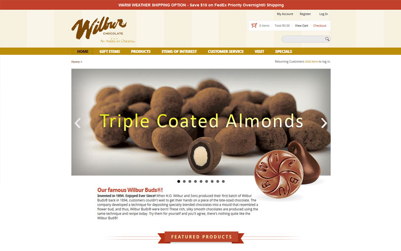 Example of Wilbur Chocolate