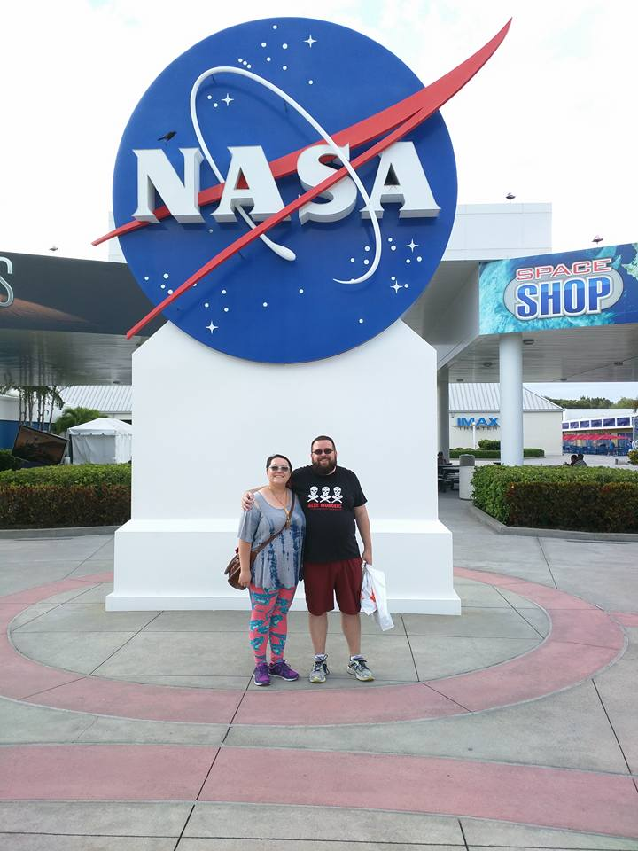 Joe visiting NASA