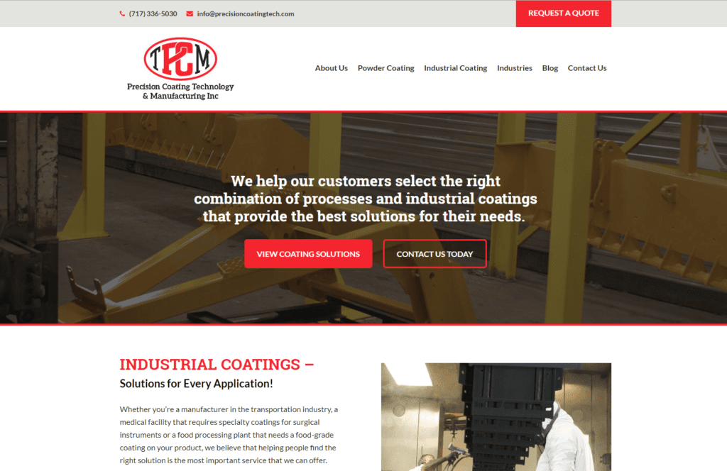 Precision-Coating-homepage