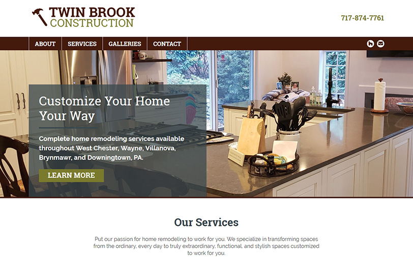 Example of Twin Brook Construction