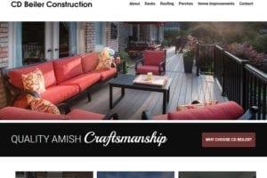 CD Beiler Construction Webpage