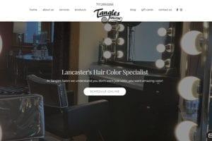Tangles Salon Webpage
