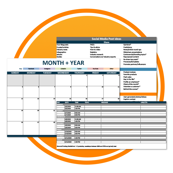 Social Content Calendar Template Icon