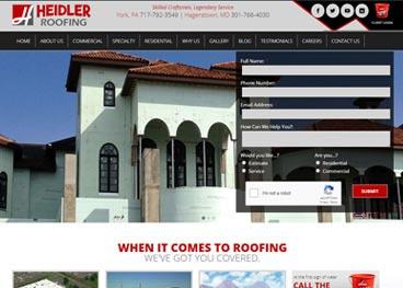 Heidler Roofing Website