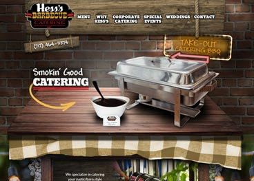 Hess's BBQ Catering Website