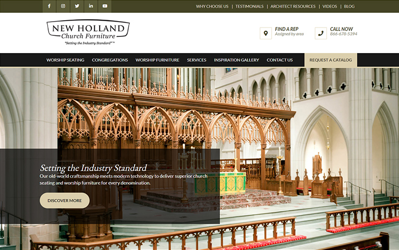 Example of New Holland Church Furniture