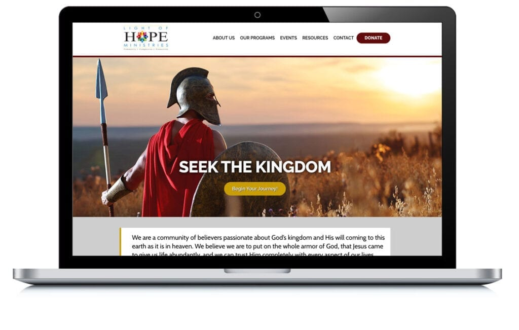 Example of Light of Hope Ministries