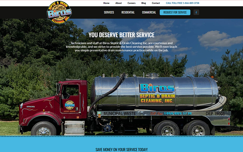 Example of Biros Septic & Drain Cleaning