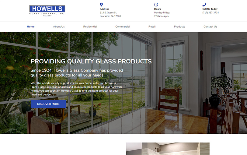 Example of Howell's Glass Company